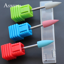 Asweina Professional 2017 Fashion 3Pcs/Pack Rubber&silicon Carbide Electric Nail Buffer Nail Polishing Remove UV Gel Tools(China)