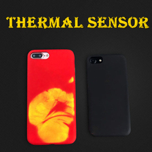 Thermal Sensor Phone Case For iPhone 6 6s plus 7 7 plus Physical Thermal Case Funny Heat Case Induction Discoloration Back Cover