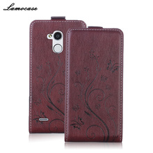 Leather Case For ZTE V7 Lite Flip Fashion Painting Cover For ZTE Blade V7 Lite Wallet Case V7 Lite Mobile Phone Bag&Cases(China)