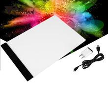AMZDEAL Ultra Thin A4 LED Light Stencil Touch Board Copy Painting Drawing Board Pad Without Dimmable US Plug Digital Tablet(China)
