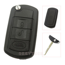 3 Buttons Remote Flip Key Shell fit for LAND ROVER Range Rover Sport Discovery Case Fob 3 BTN (Narrow blade)