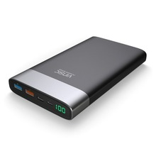 Vinsic 20000mAh Large Capacity Polymer Power Bank Mobile Phone Charger External Battery Type-C Micro USB Charging Dual Port