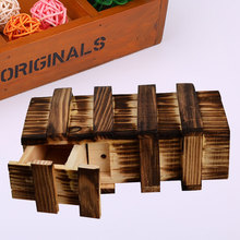 3D Large Size Vintage Classic Wooden Mystery Brainteaser Puzzle Magic Box Toys