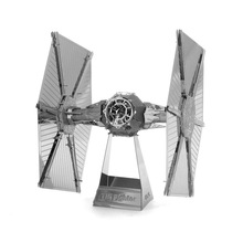 Top Quality Metallic Steel Star Wars TIE Fighter Zabing Intelligence 3D Titanic Jigsaw Steamer Puzzle Model Toy Gift Decoration
