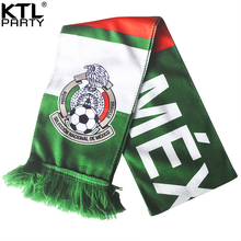 KTLPARTY 10pcs/lot 2018 Russia world cup football Mexico fans scarf national soccer team fans muffler bandelet neckerchief(China)