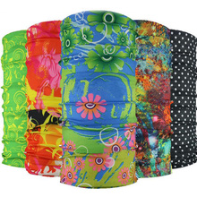 2017 New Fashion Bandana Multi Functional Headband Flower Scarf Seamless Tubular Face Mask Magic Tube Ring Scarf(China)