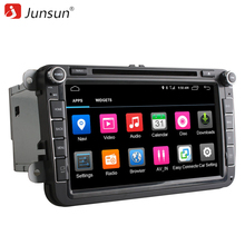 "Junsun 2 din gps 8"" Android 6.0 car DVD radio Player Support 4G Nerwork Eight Core For VW Volkswagen Passat Skoda Octavia 2(China)"