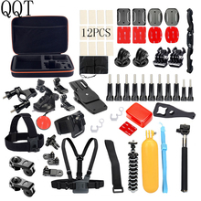 Buy QQT GoPro Hero 6 Accessories Set Go Pro Hero 5 4 3 GoPro Mount Mount tripod SJCAM SJ4000 xiaomi yi camera eken h9 for $32.36 in AliExpress store