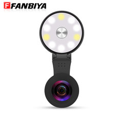 FANBIYA USB Led Camera Selfie Ring Flash Fill Light for iphone 7 7plus 6s Rechargeable Charger Enhancing Photography+ Micro lens(China)