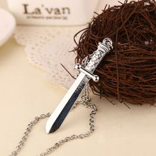 The Expendables 3 necklace Sylvester Stallone sword dagger knife pendant jewelry for men and women wholesale(China)