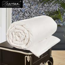 Lilysilk All Season Cotton Covered Silk Comforter 100% pure and natural long strand silk floss Free Shipping