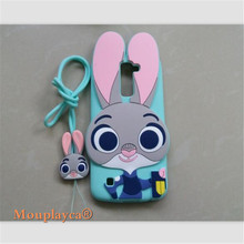 Cute cartoon Zootopia Judy Bunny soft silicone back cover cases for LG Q10 / K10 M2 K420N K430DS Cell phone case + Strap