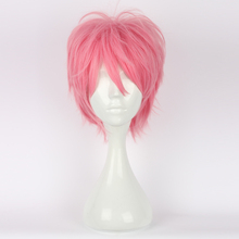 30CM Pink Short Layered Hair for Hitman Reborn G Anime Daily Anime Cosplay Wig(China)