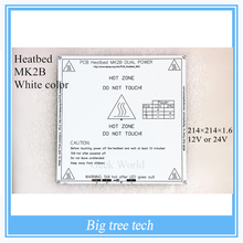 New White Color RepRap 3D Printer PCB Heatbed MK2B Heat Bed Hot Plate For Prusa & Mendel MK2A  for 3d printer parts