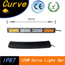 Promotion 1PCS 10W Single Row 120W Led Curve Light Bar 22inch Amber Led Light Bar IP67 waterproof rate