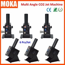 6 Pcs/lot On sale new design multi Angle 90 degree CO2 Jet Machine Kryo lamp DMX control 2 ch CO2 Jet Cannon fx with 6m hose