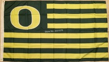 "Oregon Ducks NCAA Football Striped Flag Large 3x5 Ft. Man Cave Grommets ""O""(China)"