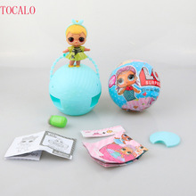 7.5cm 9.5cm Series 1, 2 Send Random Dress Change LOL SURPRISE DOLL Baby Tear Open Color Change Egg Doll Action Figure Toys