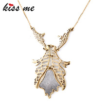 African Jewelry New Items Hot Geometric Pendants Gold Color Necklace Factory Wholesale(China)