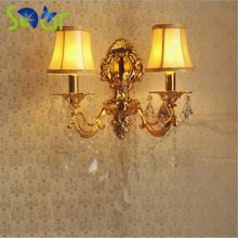 Zinc Alloy Candle Crystal Warm White Wall Lamp Bedroom Bedside Room Corridor Hotel Home Wall Sconce LED lamp 220V Led Wall Light