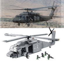 UH-60 Hawk Military Helicopter Building Blocks 562pcs Compatible lepin Army Models Building Toys for Boys Constructor set