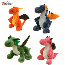 4 colors cute  Dinosaur plush toys Dinosaur Stuffed Animals Plush Soft Toys for kids christmas gifts orange/blue/green/pink