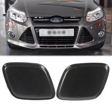 Black Bumper Headlight Washer Jet Primed Cover Cap For Ford/Focus 2012-2014(China)