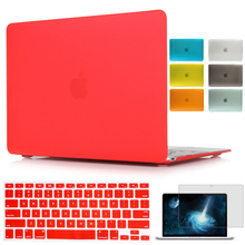 For Macbook Air 13 Case Air 11 Pro 13 Retina 12 13 15 Laptop Sleeve Matte Hard Shell Cover For Mac Book 13 Retina Protector Case(China)