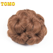 TOMO Synthetic Curly Chignons Clip In Hair Bun Hair Pieces For Women 6 Colors(China)