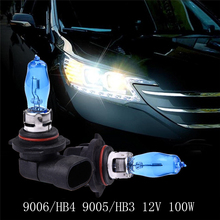 Buy 2Pcs Car headlight bulbs 9006 HB4 9005/HB3 White Fog Halogen bulb external Light source Car styling 12V 100W HOD Xenon auto Lamp for $2.58 in AliExpress store