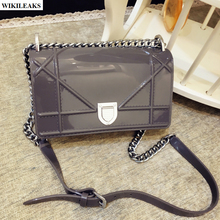 ladies small jelly silver chain bolsa silicone mochilas infantiles women girl candy clutch hasp plastic bag hologram pvc handbag