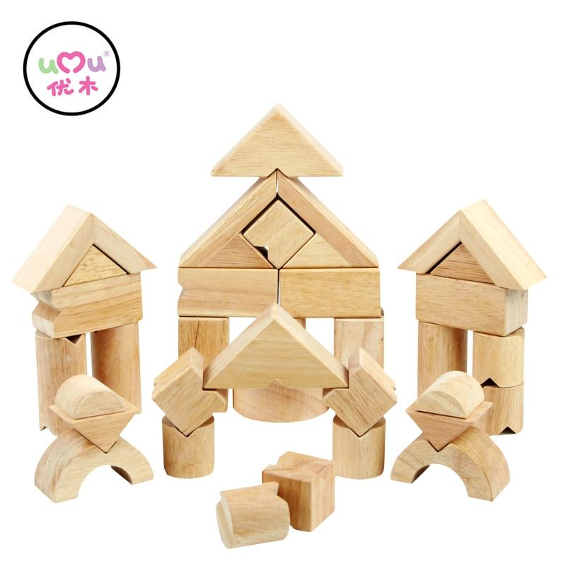 V Shape Wooden Balance Building Blocks Educational Toys For Children Natural Wood  Building Kits UQ1386H<br>