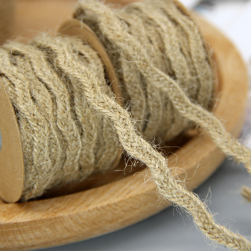 6mm*5M Natural Jute Twine Burlap String Hemp Rope Party Wedding Gift Wrapping Cords Thread DIY Scrapbooking Florists Craft Decor 2