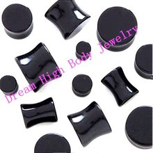 New Arrival Black White UV acrylic Ear EXPANDER Bone Flesh Tunnel Ear Plugs Fashion Body Piercing Jewelry Stud Ring Set Jewelry(China)