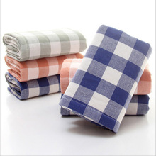 Soft 100%cotton Plaid Terry Hand Towels For Adults Decorative Face Bathroom Hand Towels