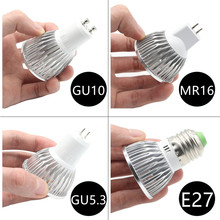 BEILAI 10PCS Dimmable LED Lamp E27 220V 110V GU10 LED Spotlight 3W 4W 5W 85-265V MR16 12V GU5.3 Bombillas LED Bulbs Light Luz