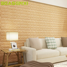 Buy 1PCS 70*15CM 3D Foam Wall Stickers DIY Wall Decor Safty Home Living Room Kids Bedroom Brick Wallpaper Decorative Stickers for $1.26 in AliExpress store