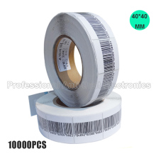 EAS soft label 40*40mm, 10000PCS per lot, RF 8.2mhz, RF soft label, EAS sticker free shipping
