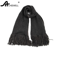 Achiewell Winter Casual Women Cashmere Scarf With Tassel Warm Autumn Winter Female Black Scarves Fashion Szale 70*200(China)
