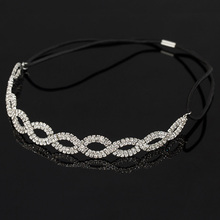 YFJEWE Women Fashion Crystal Head Chain elastic Hair Band Girl Summer Style Hair Accessories Party  Wholesale Drop Shipping H040
