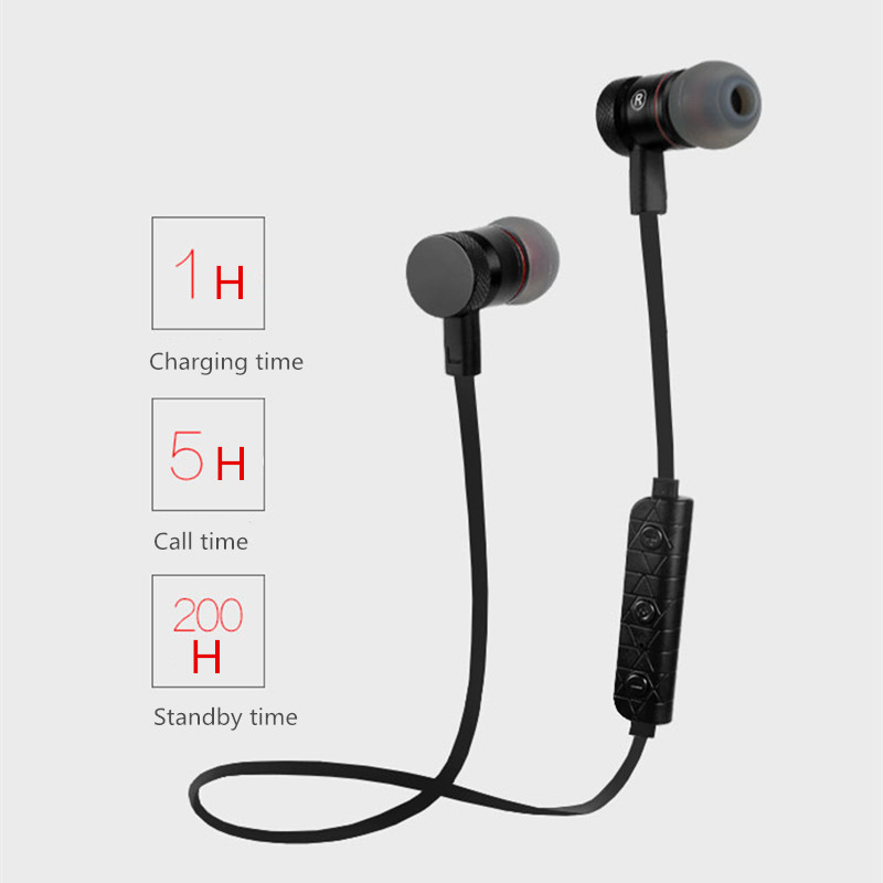 Tottiday M9 Bluetooth Headphones Wireless In-Ear Noise Reduction earphone with Microphone Sweatproof Stereo Bluetooth Headset
