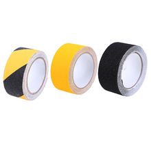 WHISM 5m PVC Safe Anti Slip Stairs Tapes Black Yellow Self-adhesive Waterproof Floor Stickers Warning Stripes Wall Sticker(China)