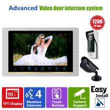 "Homefong Video Door Phone Intercom Doorbell Camera system Quality Indoor Monitor 10"" CCTV Security Door Access Control Rainproof"