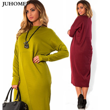 Buy 6XL Plus Size Dress big women clothes 2017 new winter autumn Elegant Casual Loose Large size female ladies o-neck red midi dress for $13.54 in AliExpress store