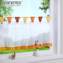 Curtain for the Kitchen Fashion Cafe Embroidered 100% Polyester Pastoral Style Small Cafe Curtain Various Sizes Tab Top 1 PCS(China)