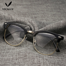 Hot Fashion Retro Half-frame Glasses Frame Men Women Optical Glasses With Clear Glass Transparent Computer Glasses Frame