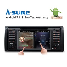 "A-Sure Android 7.1 QuadCore GPS Navigation 7"" Car DVD Player for BMW E39 5 Series/M5 X5 E38 with BT/RDS/Radio/SWC/USB/SD/4G/WIFI(Hong Kong,China)"