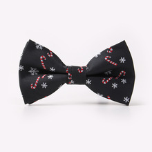 Christmas bow tie for men Christmas tree snowflake pattern bow tie Women Fashion Butterfly Party Wedding Cravat(China)