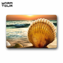 Buy WARM TOUR Door Mat Beautiful Sunset Sea Beach Seashell Doormat Rug Indoor/Outdoor/Front Door/Bathroom Mats Floor Mat for $12.59 in AliExpress store
