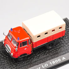 1/72 Scale Alloy Diecast Model Car 1/72 Scale Robur LO 1800A Vehicles Fire Truck toy Car Toys Vehicles For Children Toys Gifts